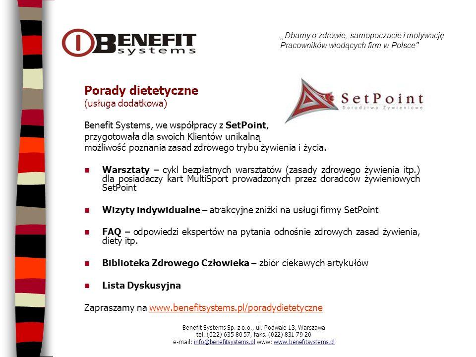 Porady dietetyczne (usługa dodatkowa)