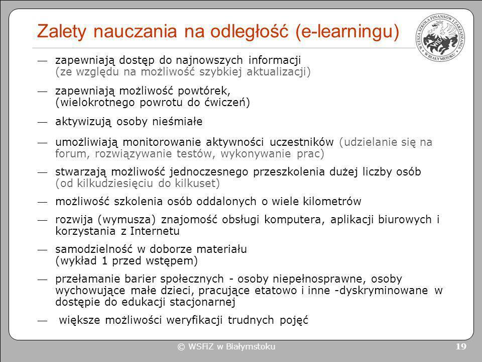 Zalety nauczania na odległość (e-learningu)