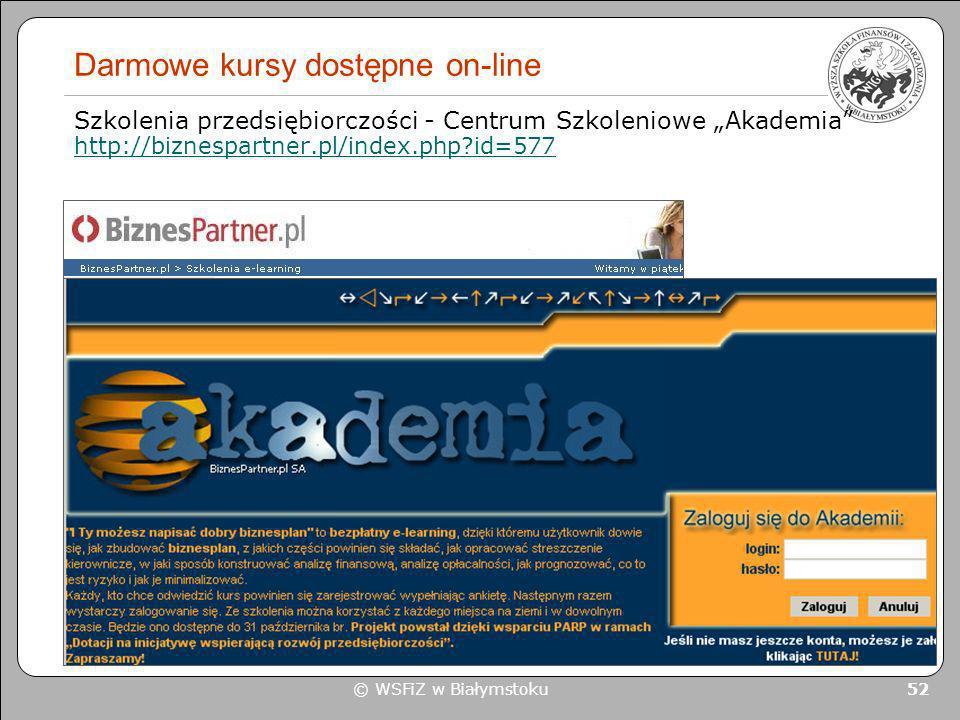 Darmowe kursy dostępne on-line