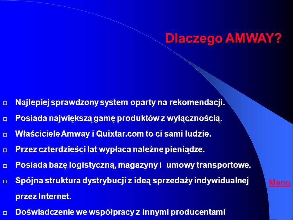 Dlaczego AMWAY Najlepiej sprawdzony system oparty na rekomendacji.