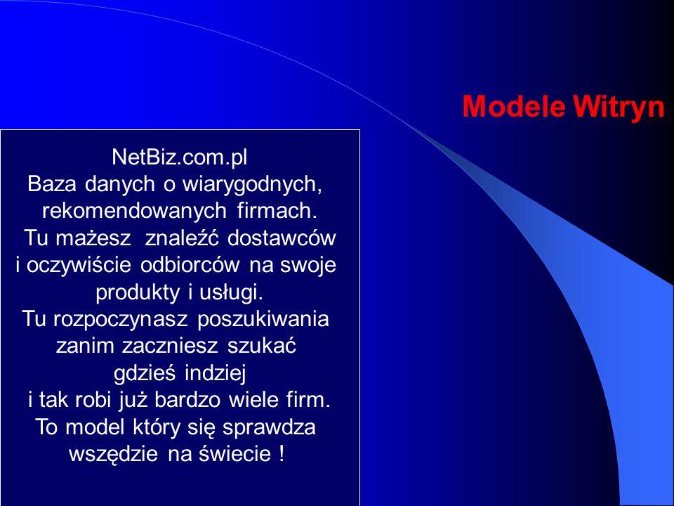 Modele Witryn NetBiz.com.pl Baza danych o wiarygodnych,