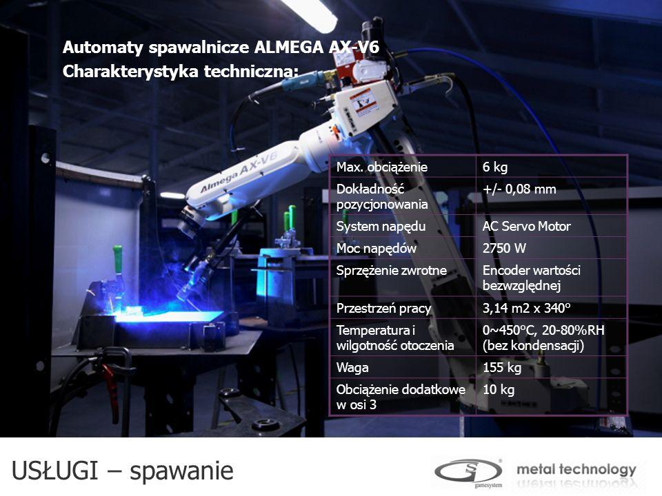 USŁUGI – spawanie Automaty spawalnicze ALMEGA AX-V6