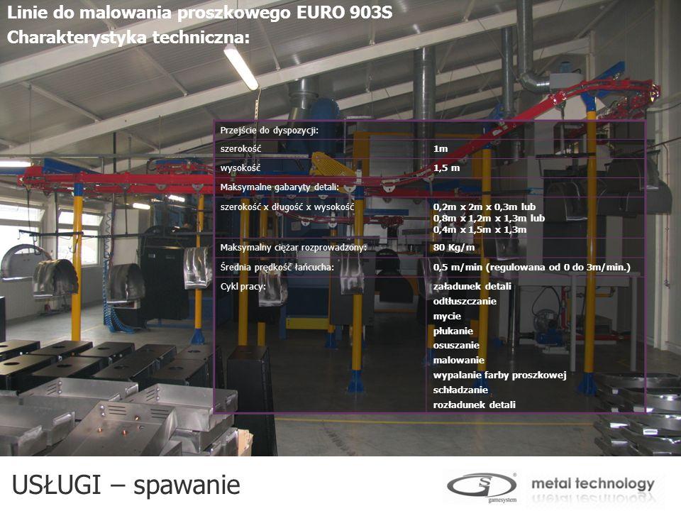USŁUGI – spawanie Linie do malowania proszkowego EURO 903S