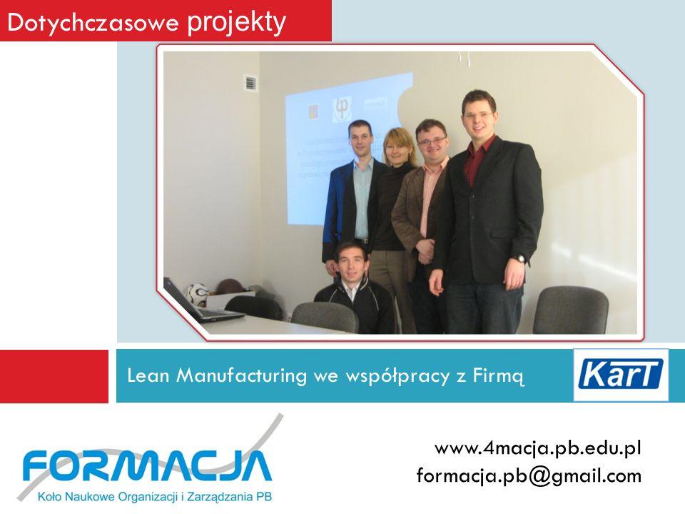 Lean Manufacturing we współpracy z Firmą