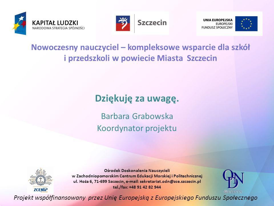 Nowoczesny nauczyciel – kompleksowe wsparcie dla szkół i przedszkoli w powiecie Miasta Szczecin