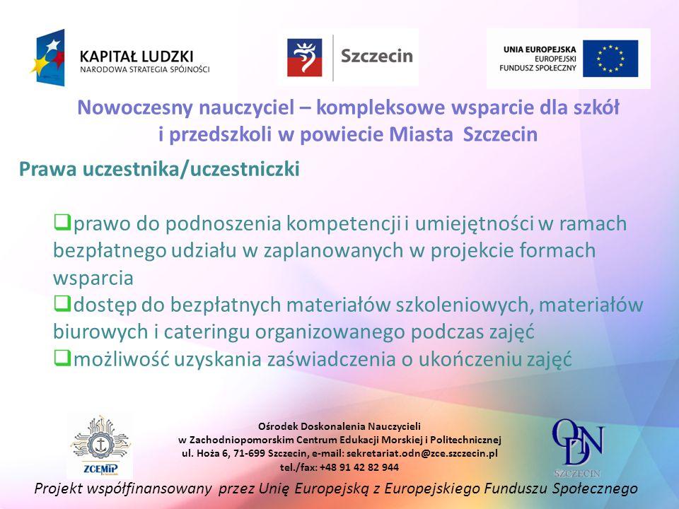 Prawa uczestnika/uczestniczki