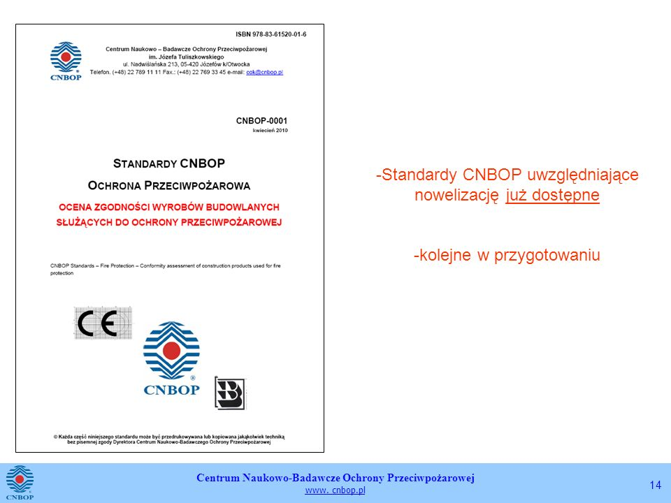 Standardy CNBOP uwzględniające nowelizację już dostępne