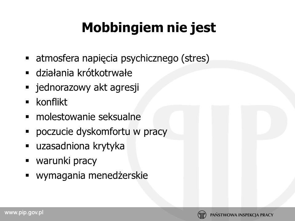 Mobbingiem nie jest atmosfera napięcia psychicznego (stres)