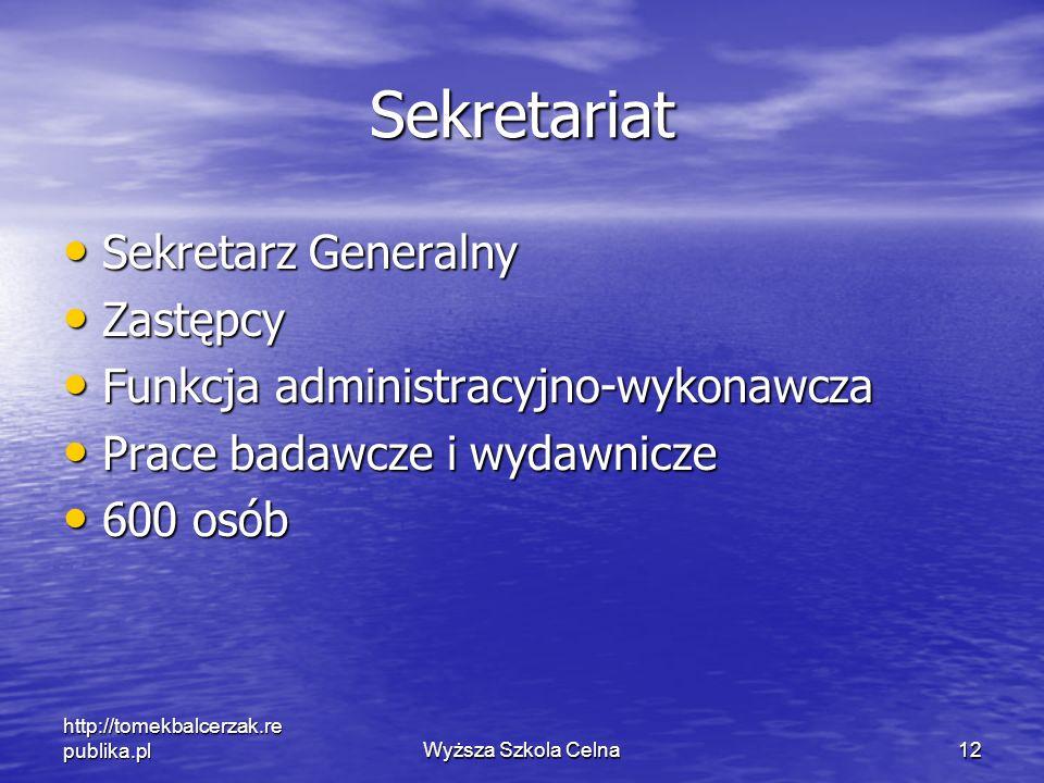 Sekretariat Sekretarz Generalny Zastępcy