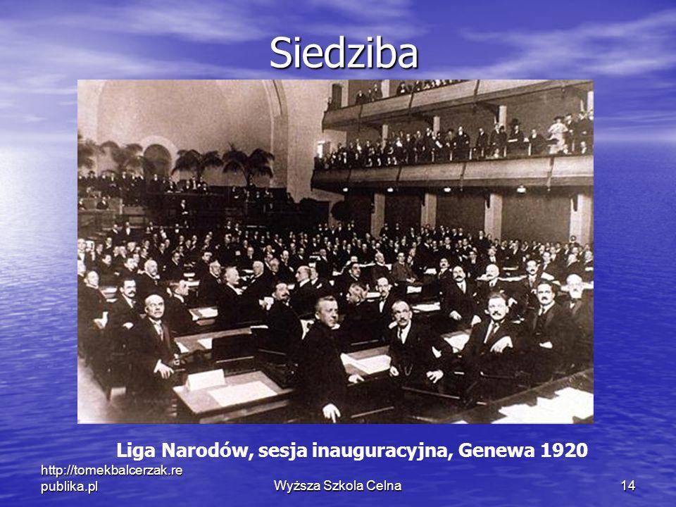 Liga Narodów, sesja inauguracyjna, Genewa 1920
