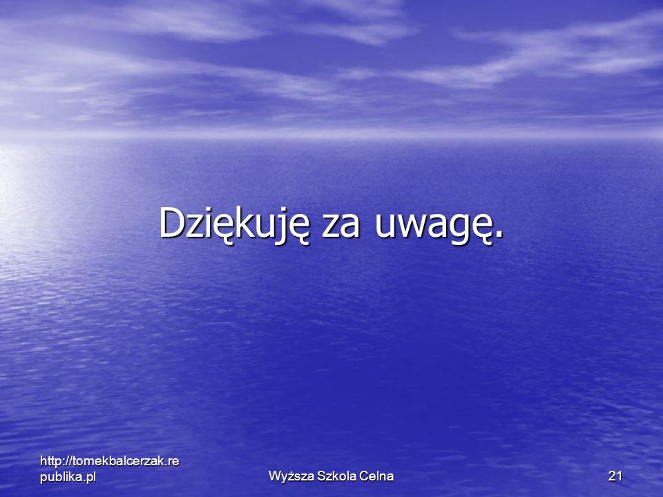 Dziękuję za uwagę. http://tomekbalcerzak.republika.pl