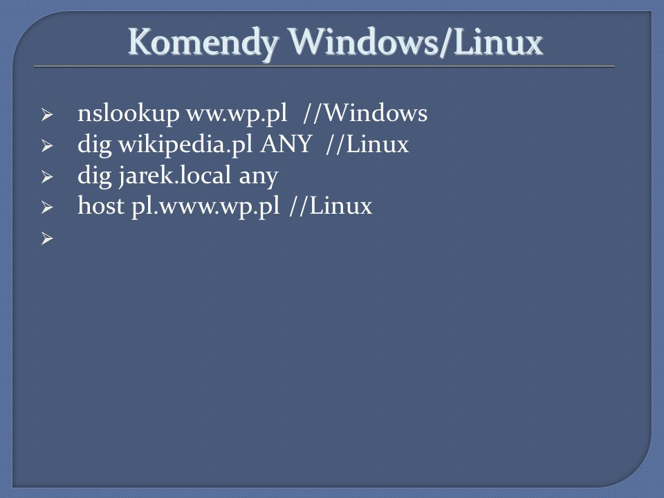 Komendy Windows/Linux