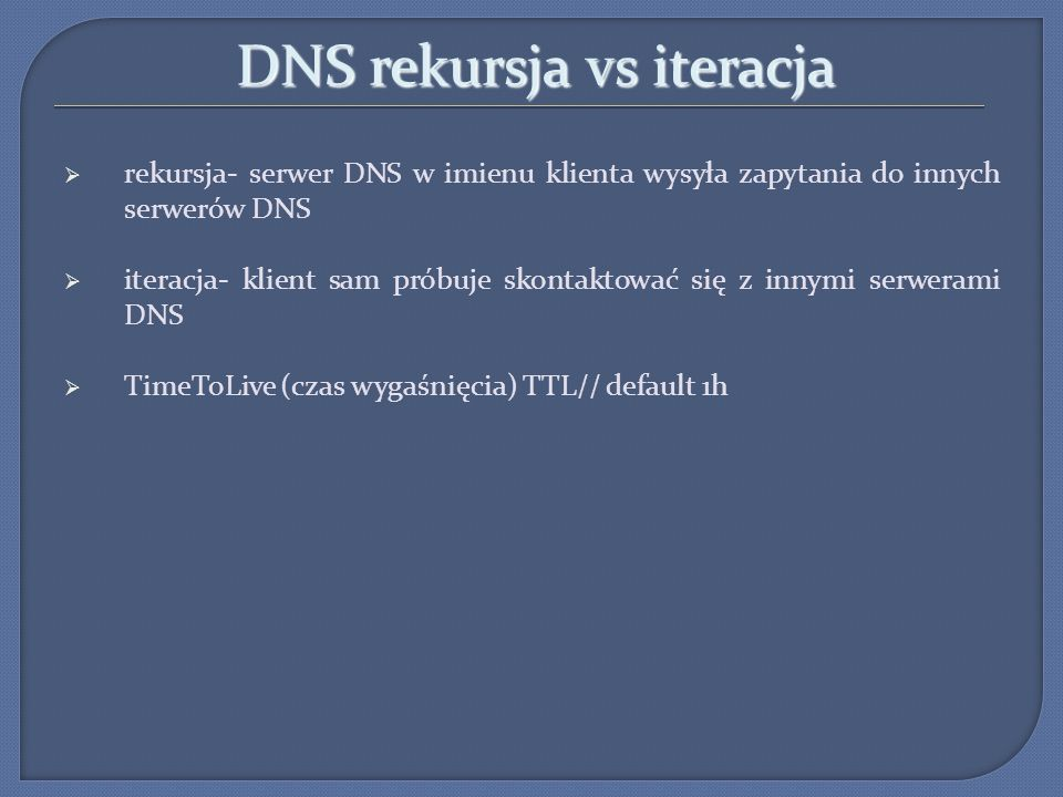 DNS rekursja vs iteracja