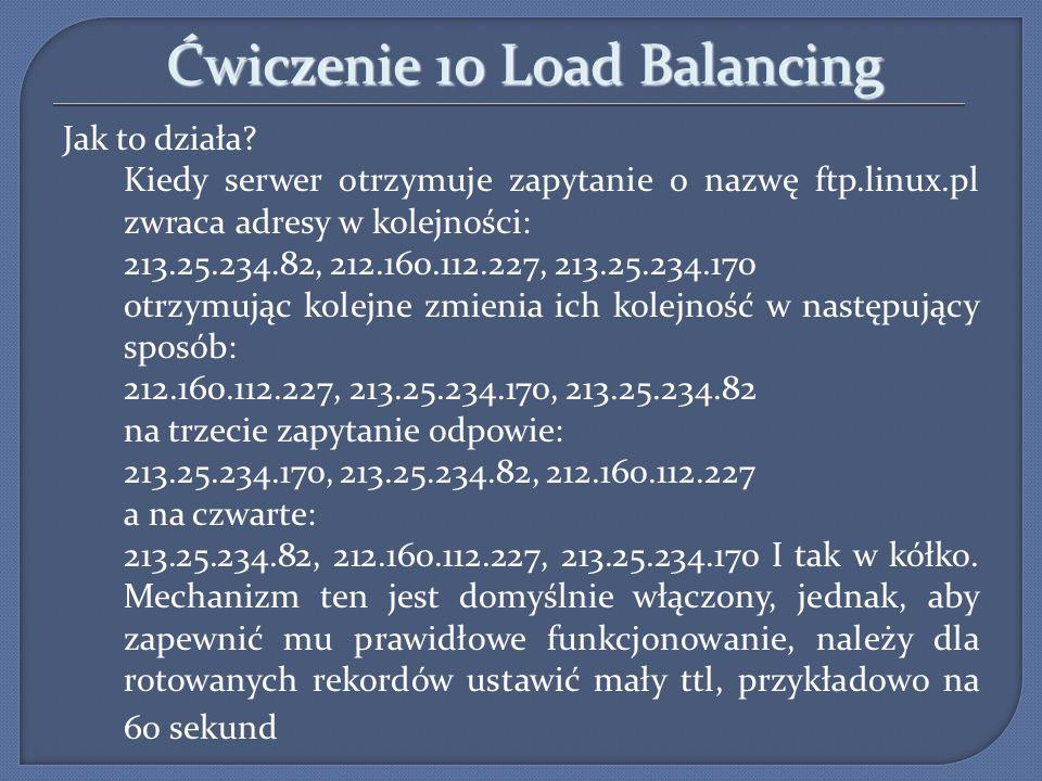 Ćwiczenie 10 Load Balancing