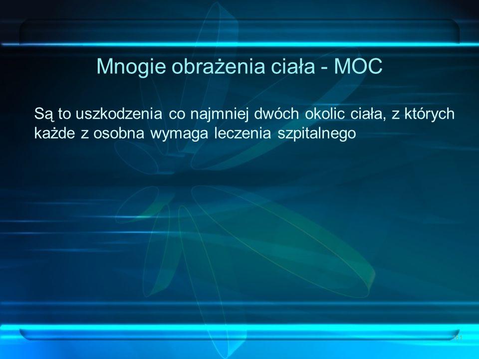 Mnogie obrażenia ciała - MOC