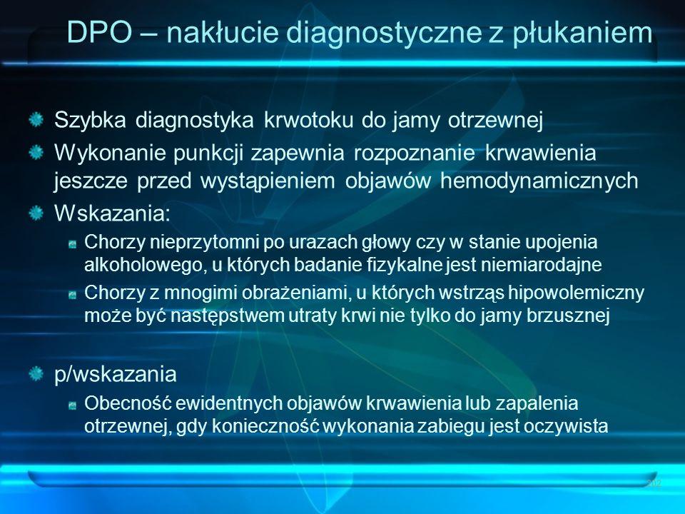 DPO – nakłucie diagnostyczne z płukaniem