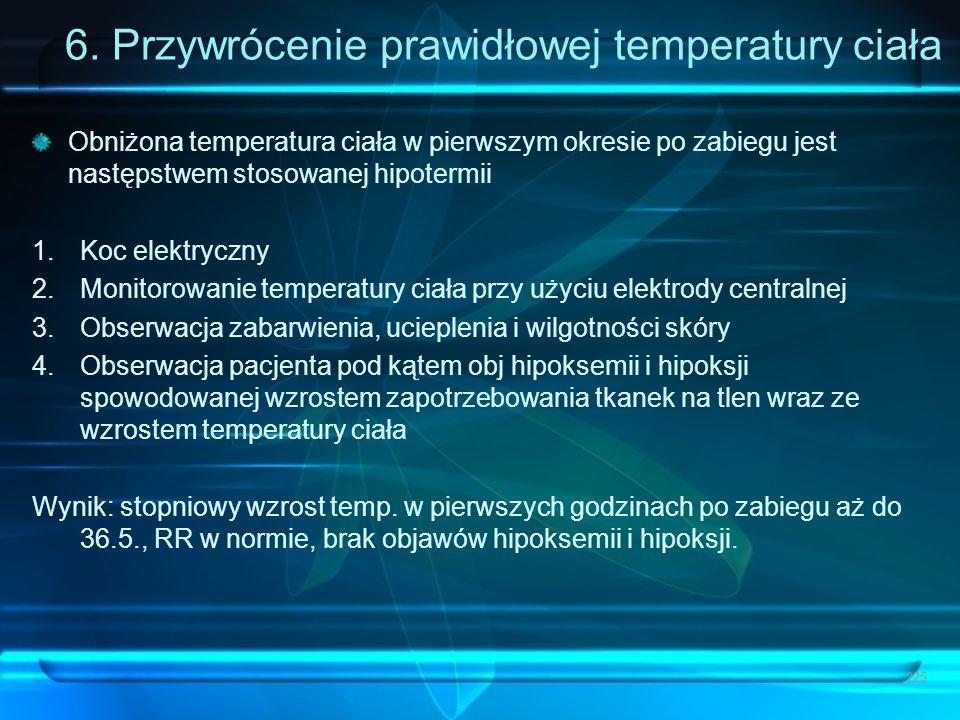 6. Przywrócenie prawidłowej temperatury ciała
