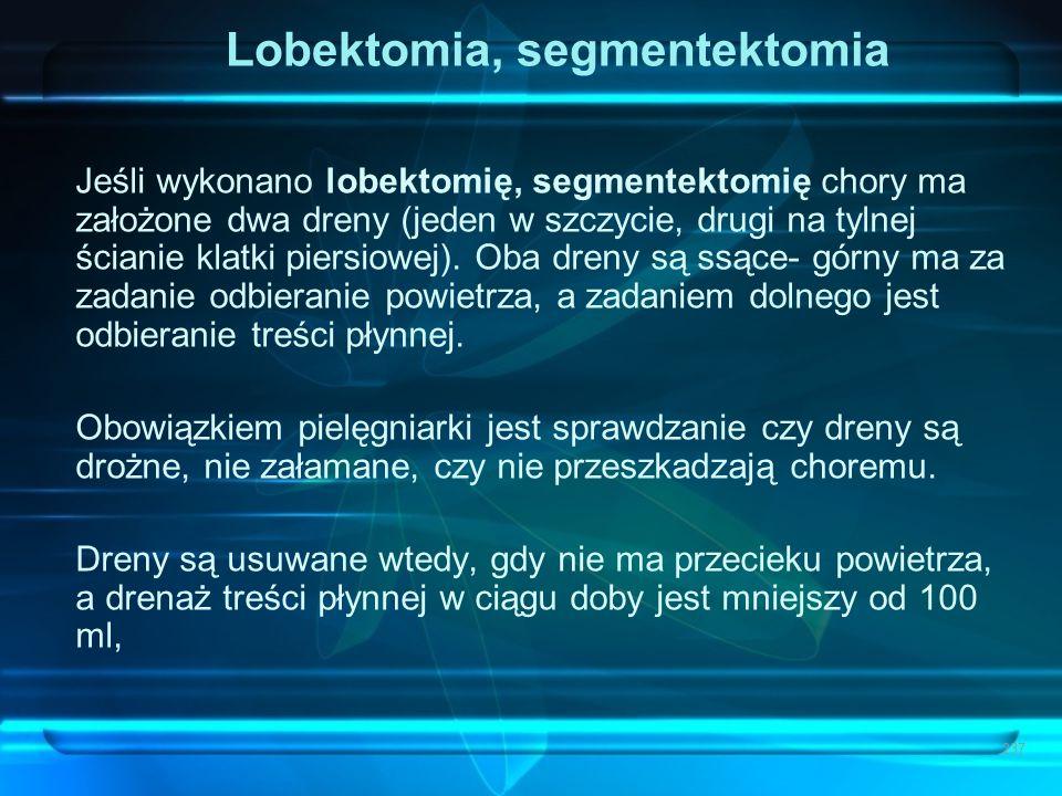 Lobektomia, segmentektomia