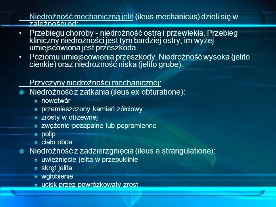 Przyczyny niedrożności mechanicznej: