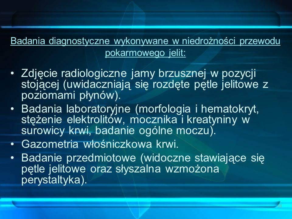 Gazometria włośniczkowa krwi.