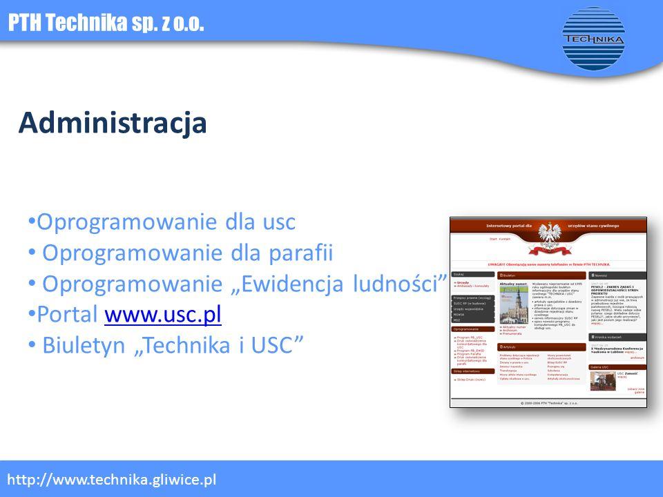 Administracja Oprogramowanie dla usc Oprogramowanie dla parafii