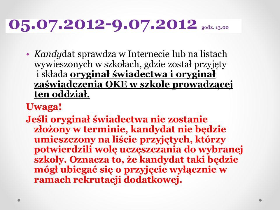 05.07.2012-9.07.2012 godz. 13.00