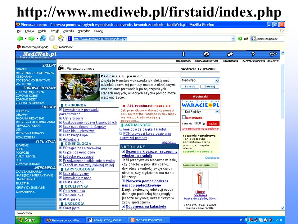 http://www.mediweb.pl/firstaid/index.php