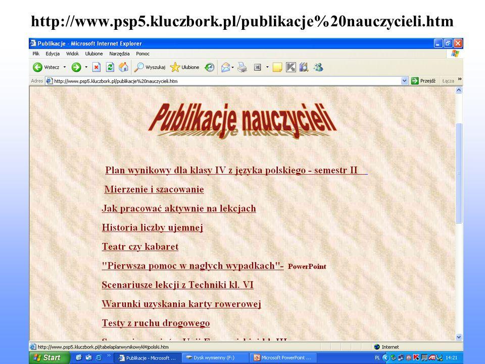 http://www.psp5.kluczbork.pl/publikacje%20nauczycieli.htm