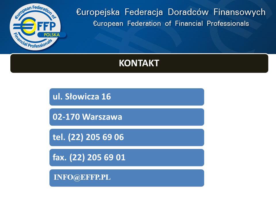 INFO@EFFP.PL W TYM ROKU POWSTAŁA EFFP KONTAKT ul. Słowicza 16