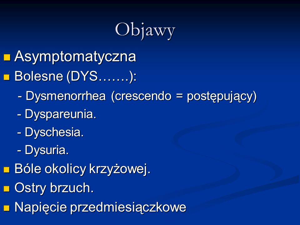 Objawy Asymptomatyczna Bolesne (DYS…….):