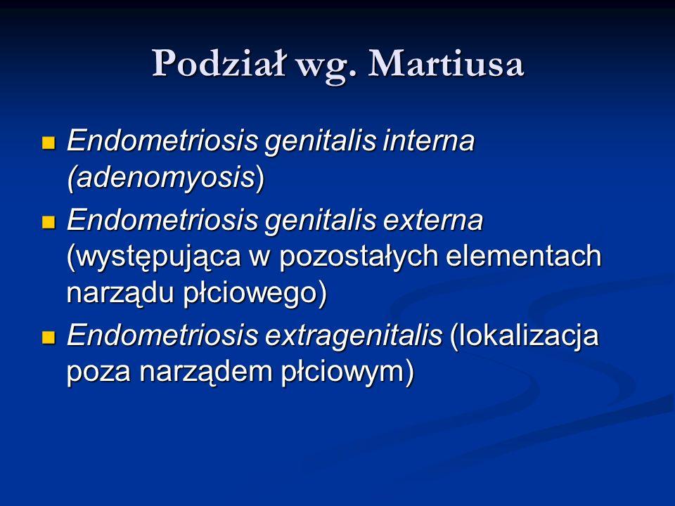 Podział wg. Martiusa Endometriosis genitalis interna (adenomyosis)