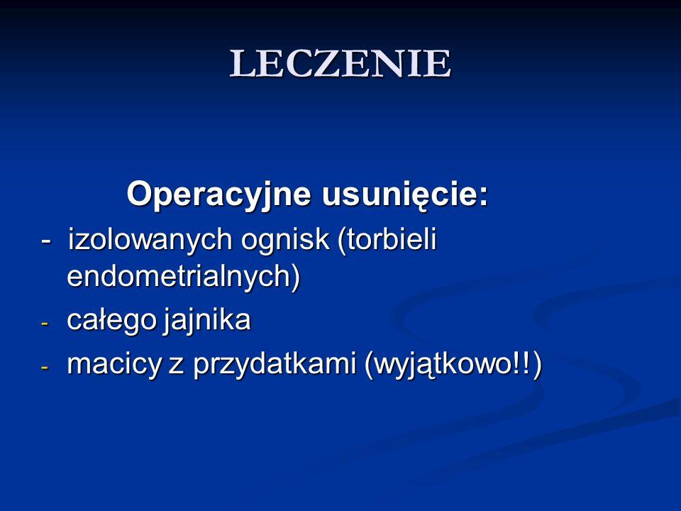 LECZENIE Operacyjne usunięcie: