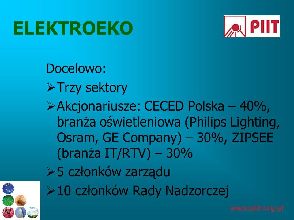 ELEKTROEKO Docelowo: Trzy sektory