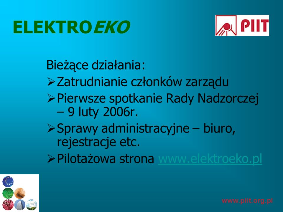 ELEKTROEKO Bieżące działania: Zatrudnianie członków zarządu