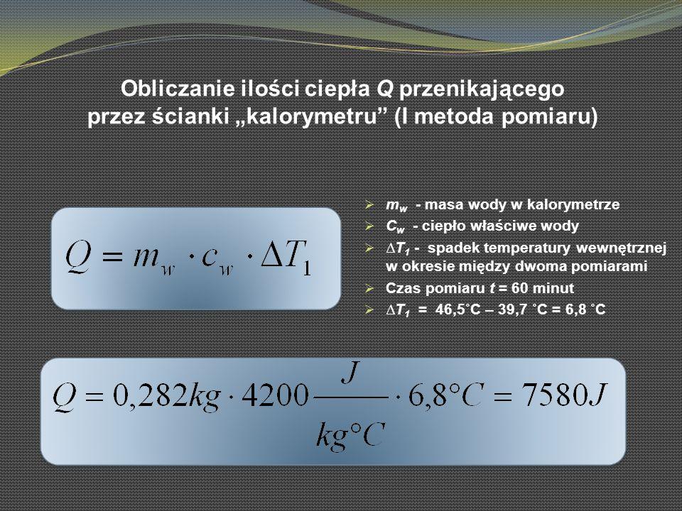 Obliczanie ilości ciepła Q przenikającego