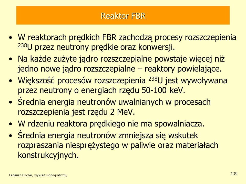 W rdzeniu reaktora prędkiego nie ma spowalniacza.
