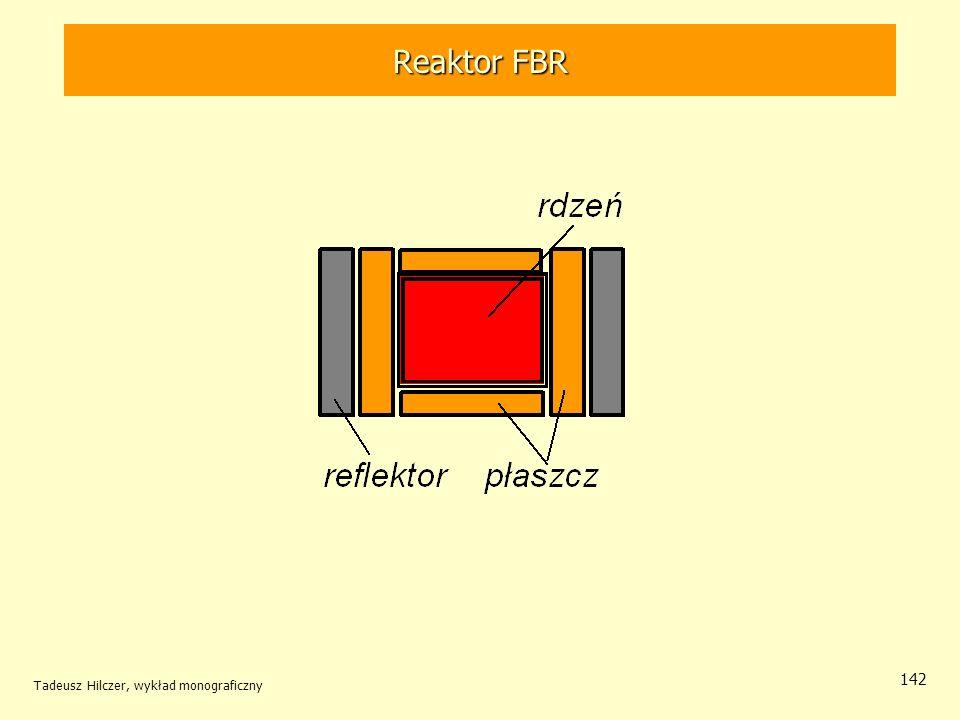 Reaktor FBR Reaktor FBR Tadeusz Hilczer, wykład monograficzny