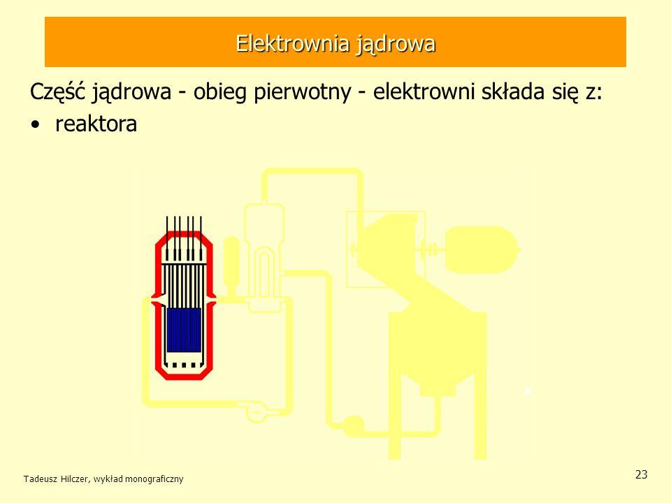 Część jądrowa - obieg pierwotny - elektrowni składa się z: reaktora