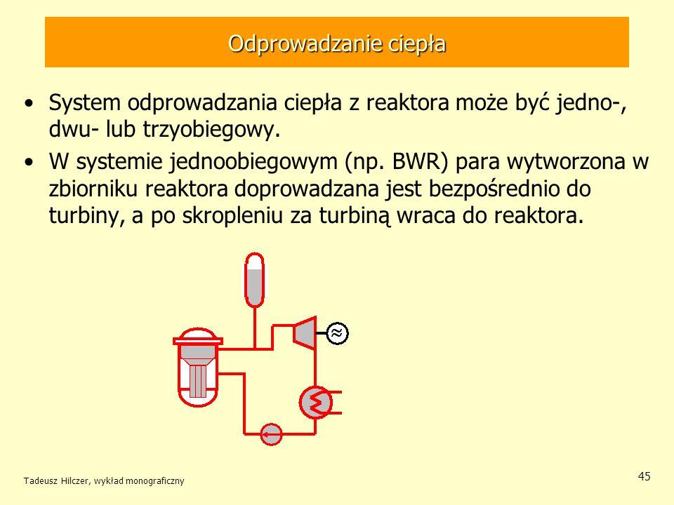 Odprowadzanie ciepłaSystem odprowadzania ciepła z reaktora może być jedno-, dwu- lub trzyobiegowy.