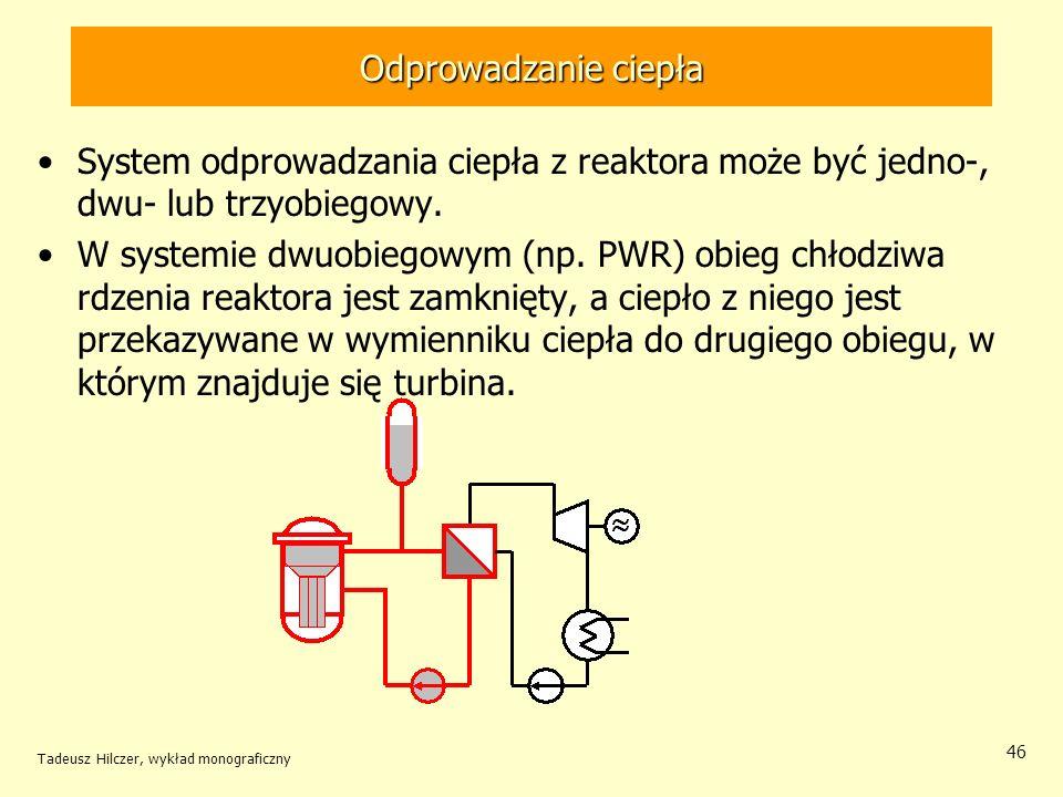 Odprowadzanie ciepła System odprowadzania ciepła z reaktora może być jedno-, dwu- lub trzyobiegowy.