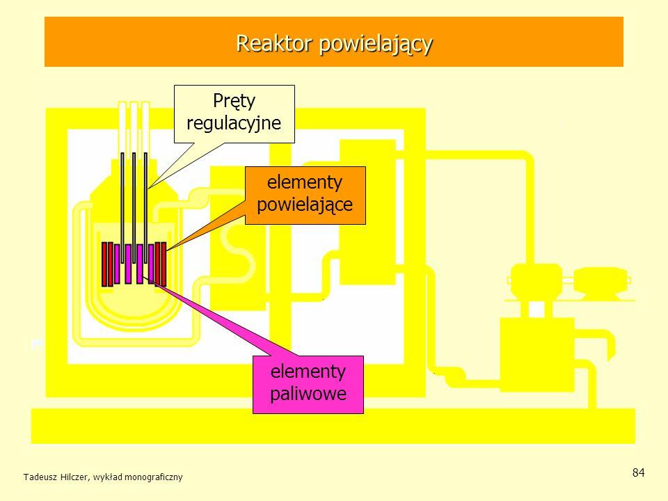 Reaktor powielający Pręty regulacyjne elementy powielające