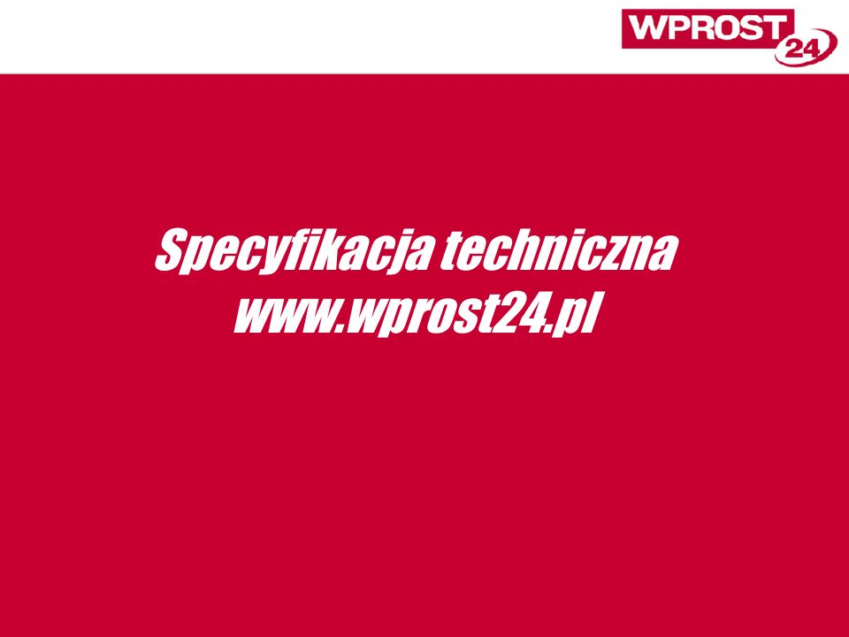 Specyfikacja techniczna