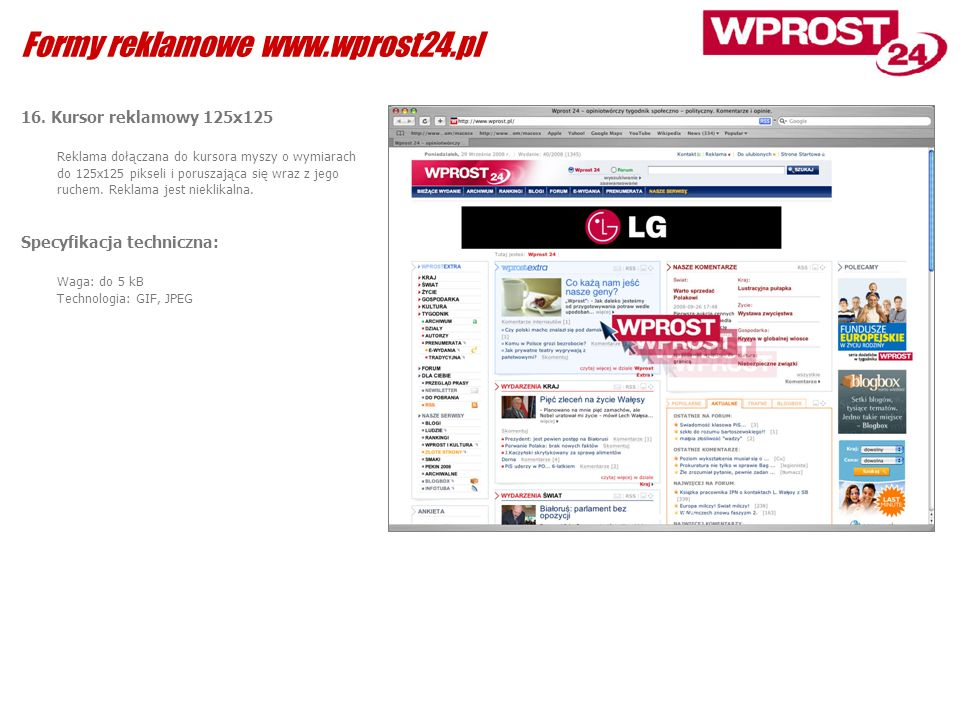 Formy reklamowe www.wprost24.pl