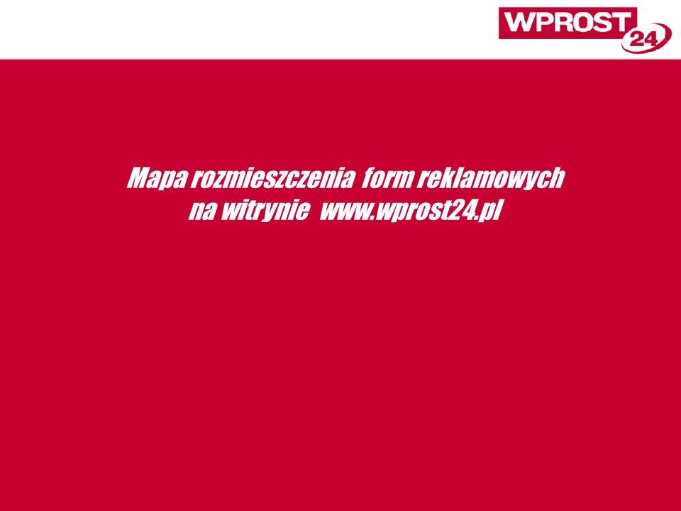 Mapa rozmieszczenia form reklamowych na witrynie www.wprost24.pl