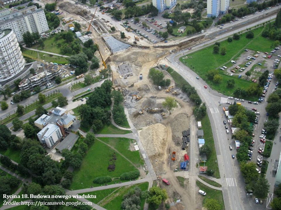 Rycina 18. Budowa nowego wiaduktu