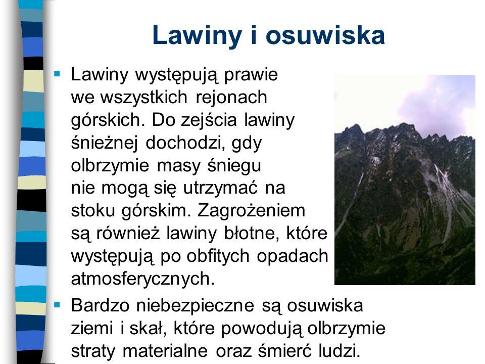 Lawiny i osuwiska