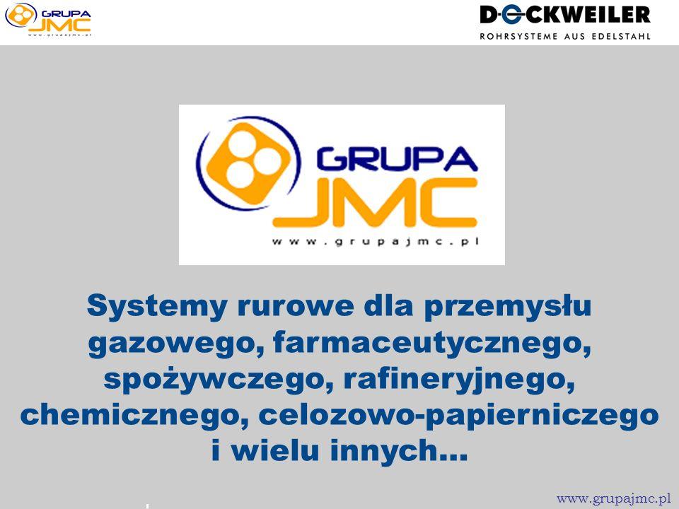 Systemy rurowe dla przemysłu gazowego, farmaceutycznego, spożywczego, rafineryjnego, chemicznego, celozowo-papierniczego