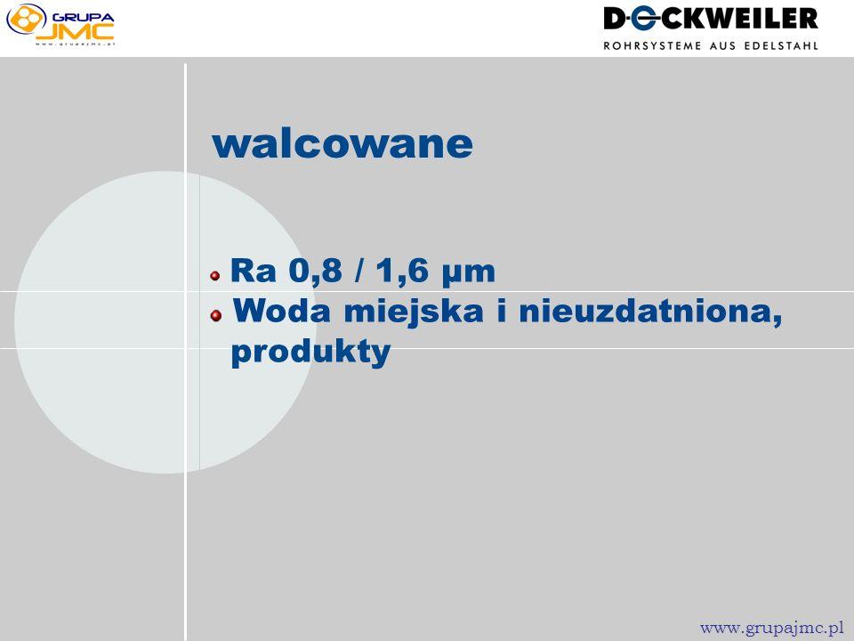 walcowane Woda miejska i nieuzdatniona, produkty Ra 0,8 / 1,6 µm