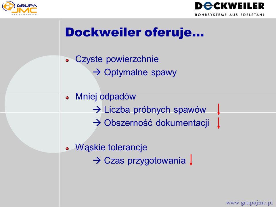 Dockweiler oferuje... Czyste powierzchnie  Optymalne spawy