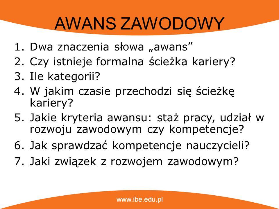 """AWANS ZAWODOWY Dwa znaczenia słowa """"awans"""